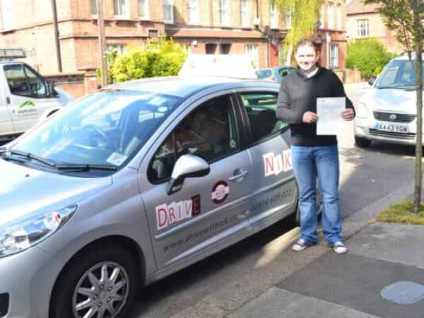 Ovidiu passed bis driving test first time