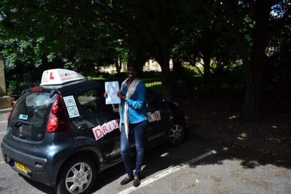 Ayan passed her practical driving test with Drive with Nik