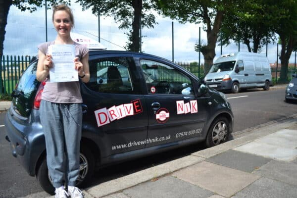 Emily passed her manual practical driving test first time with Drive with Nik