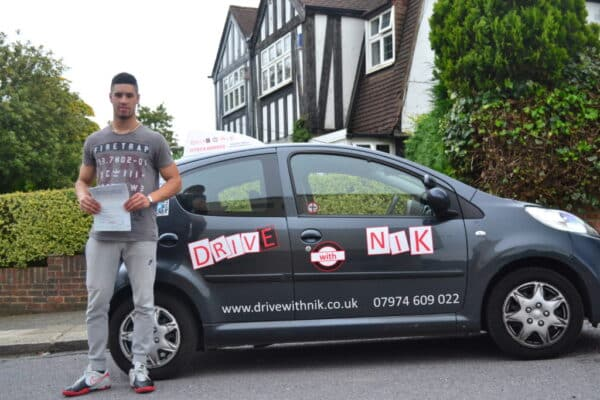 Connor passed his manual practical driving test with Drive with Nik