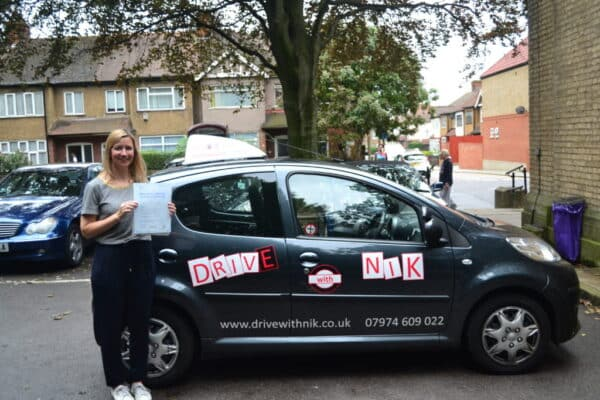 Lucy passed her manual practical driving test first time with Drive with Nik
