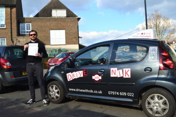 Dan passed his manual practical driving test with Drive with Nik