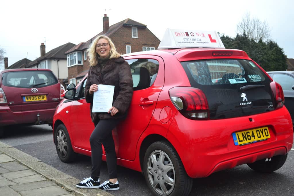 Automatic Driving lessons Muswell Hill Poppy passed her practical driving test with Drive with Nik