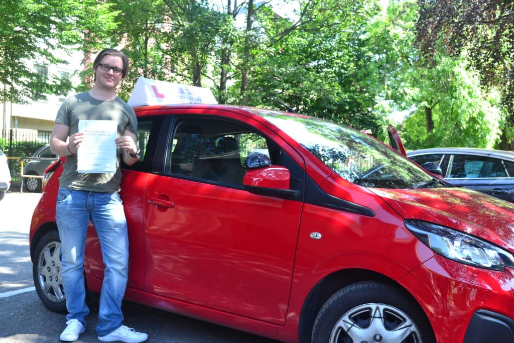 Driving lessons Muswell Hill Tristan passed his automatic driving test with Drive with Nik