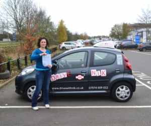 Manual Driving Lessons Woodside Park. Review from Lucie who passed first time with Drive with Nik.