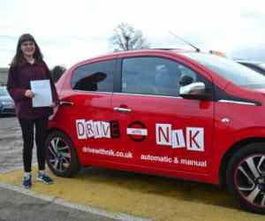 Driving Lessons Southgate. Naomi passed her driving test first time.