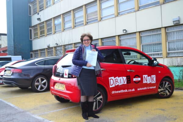 Manual driving lessons Wood Green Svetlana passed her practical driving test with Drive with Nik