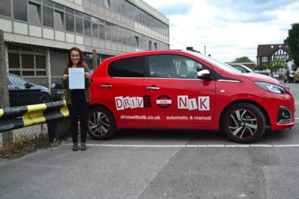 Manual driving lessons Arnos Grove Karlene passed her practical driving test first time with Drive with Nik
