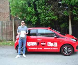 Manual Driving Lessons Crouch End. Sylvain passed with Drive with Nik.