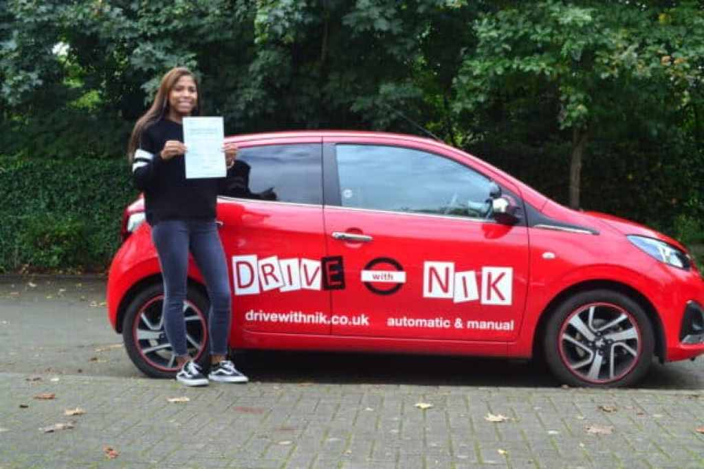 Manual Driving Lessons Finchley. Tanya passed her manual driving test first time with Drive with Nik