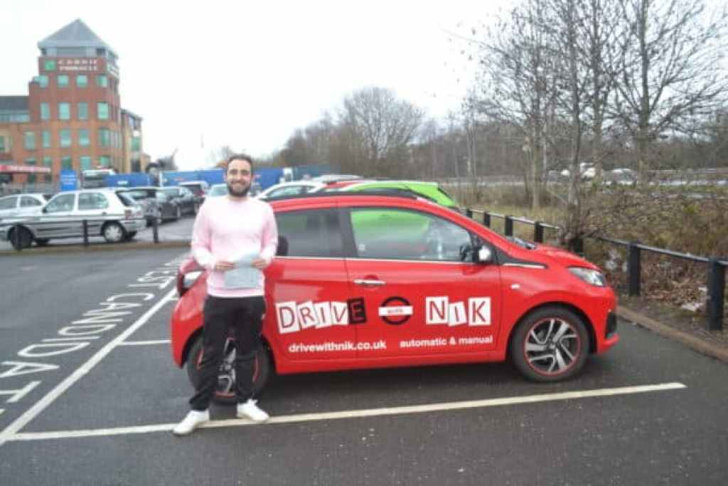 Manual Driving Lessons East Finchley. Jack passed his manual driving test with Drive with Nik.
