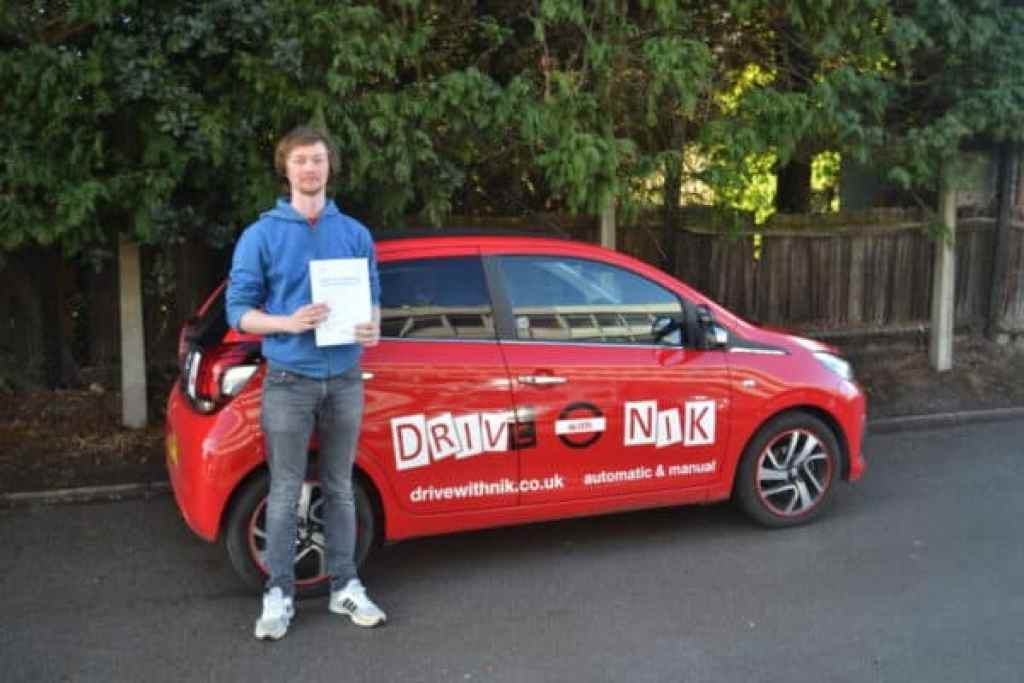 Manual Driving Lessons Crouch Hill. Sam passed his manual driving test with Drive with Nik.