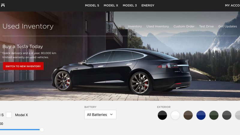 Pre Owned Tesla >> Tesla Adds Certified Pre Owned Vehicles Section To Their