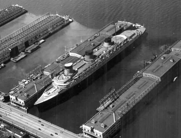 The Normandie stuck in New York.