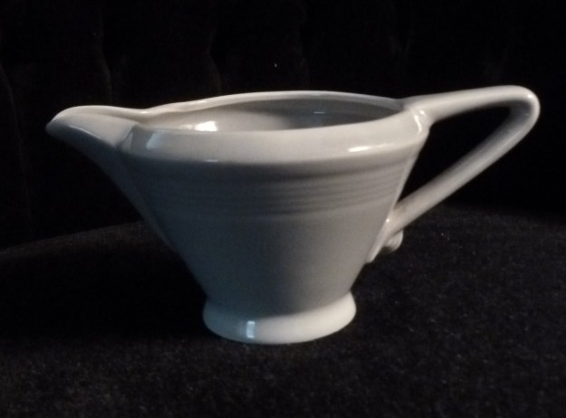 Gray Harlequin Creamer 1951-1959 by the Homer Laughlin Company.