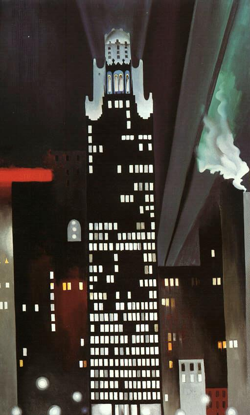 Radiator Building-Night New York, by Georgia O'Keefe.