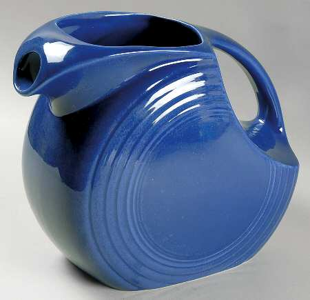 The Iconic Fiestaware Disc Pitcher.