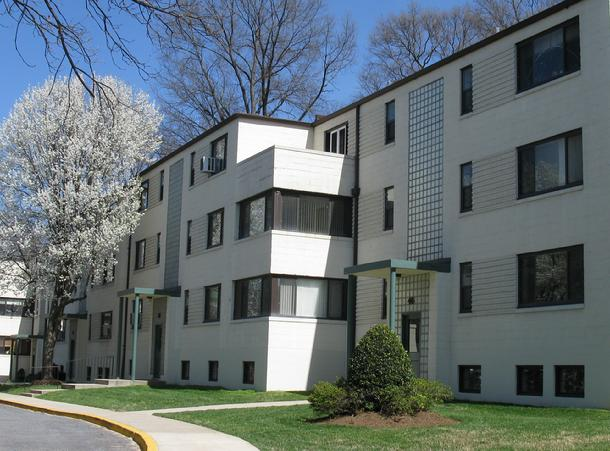 Crescent Square Apartments, Greenbelt, Maryland.