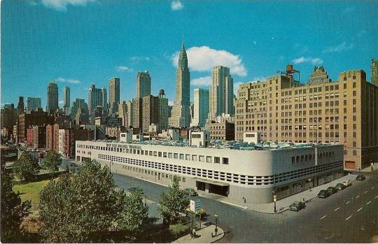 Vintage postcard of the East Side Airlines Terminal.