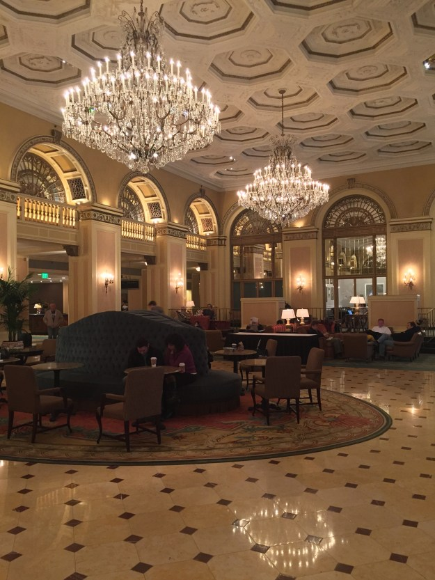 The lobby of the William Penn Hotel