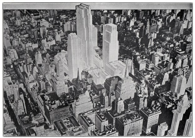 1932 plan for Rockefeller Center.