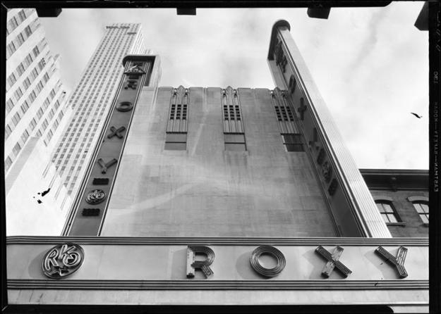 6th Ave. frontage of the R-K-O Roxy.