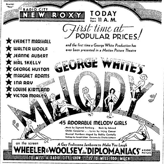 Ad featuring the tab version of Melody.