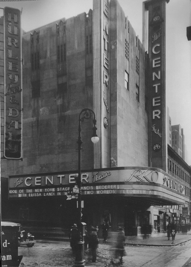 Revised marquee in January, 1934.
