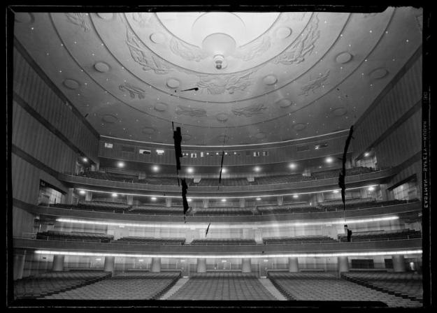 R-K-O Roxy auditorium and ceiling from the stage.