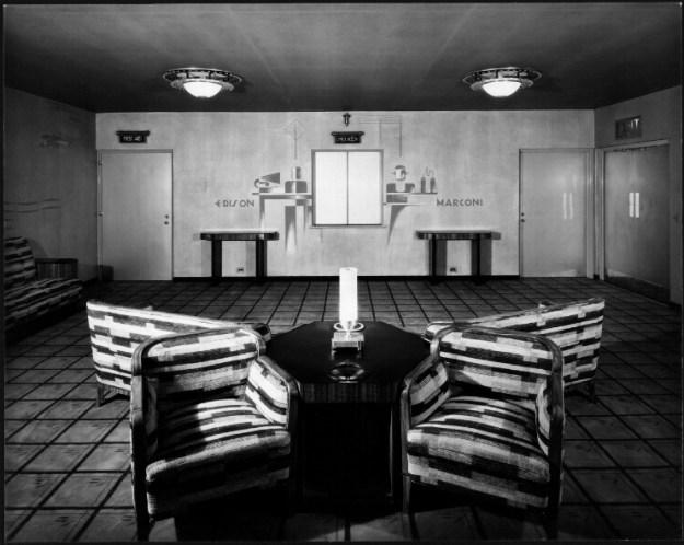 Third floor mezzanine, Edison & Marconi panels.