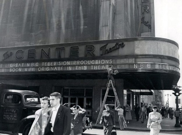1950 the Center Theatre during its TV studio conversion.