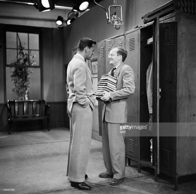 Tony Randall and Wally Cox in Mr. Peepers.