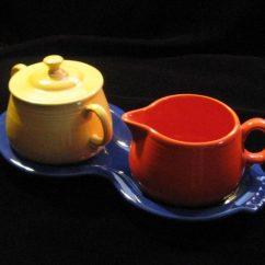 Red Kitchen Table Set High Top Sets Fiestaware 1940 Promotional Campaign: The Sugar Cream And ...