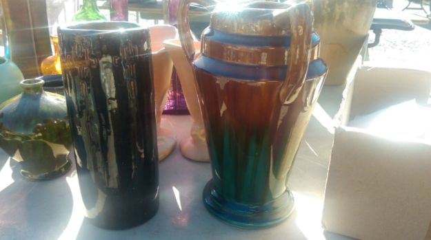 Two vases purchased at the Golden Nugget.