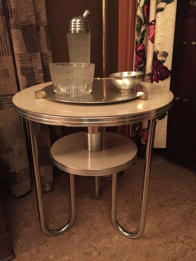 Wolfgang Hoffmann Royal Chrome Table.