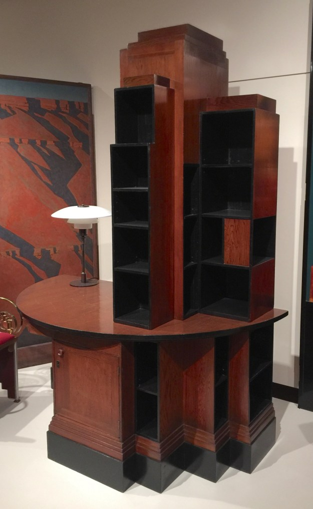 1928 Skyscraper bookcase desk.