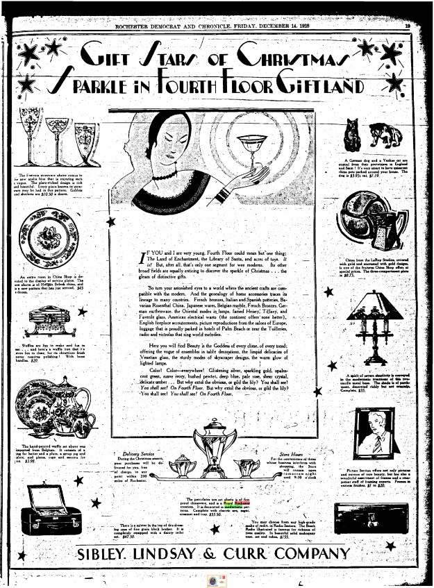 Democrat & Chronicle advertisement 1928.