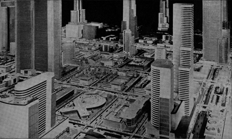 Futurama city.