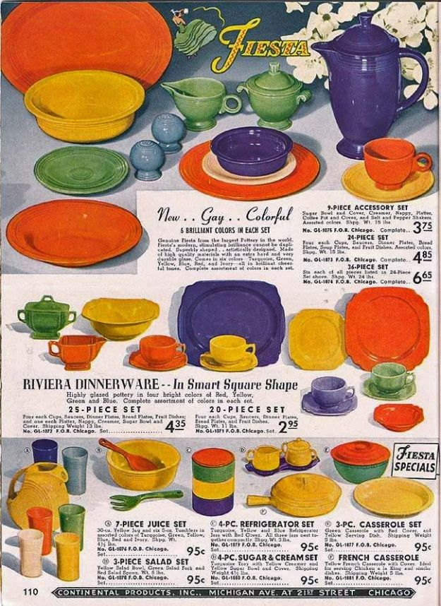 1940 Fiestaware ad.