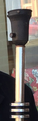 Detail of the socket on the moderne lamp.