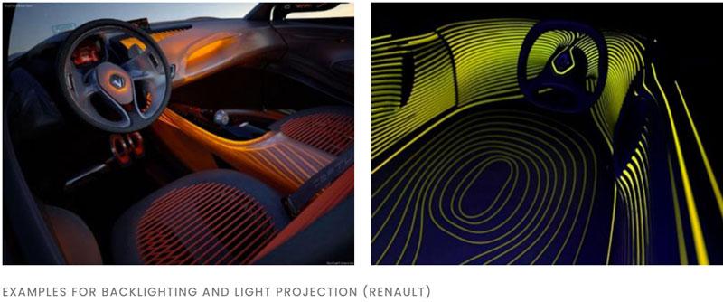 vision of future car interior lighting