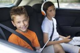 children on car seat