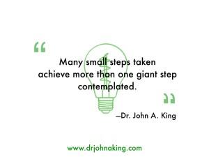 Many small steps taken...#drjohnaking