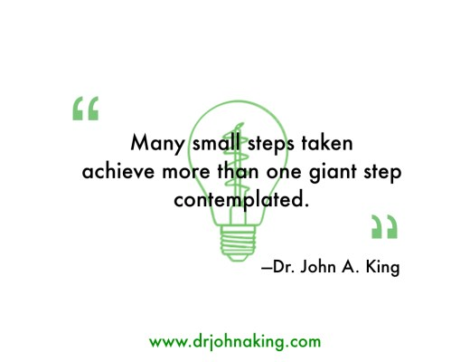 Many small steps taken...#drjohnaking