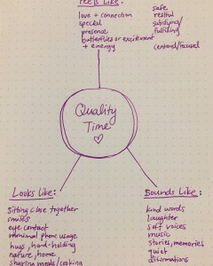 creating quality time
