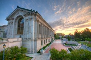 The photo of the beautiful building in University of California at Berkeley.