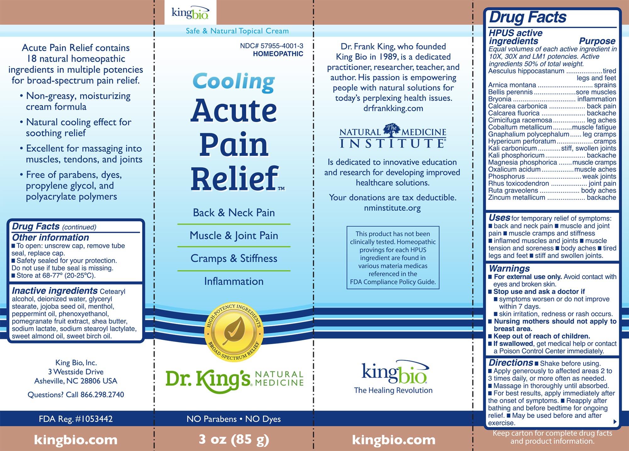 Acute Pain Relief Topical Cream