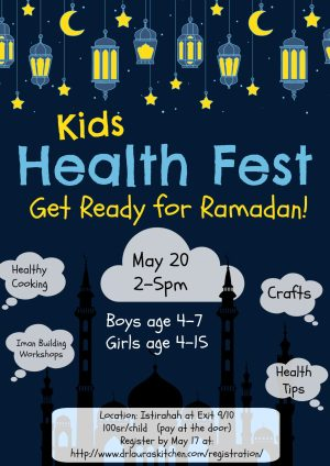 Registration for Health Fest: Get Ready for Ramadan