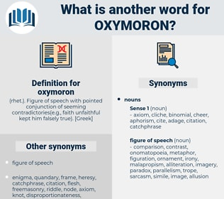 Oxymoron Synonyms, Oxymoron Antonyms