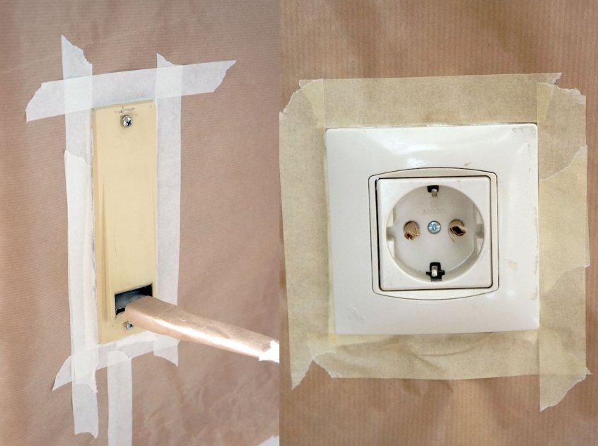 Cómo pintar los enchufes e interruptores